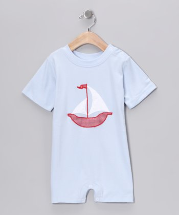 Blue Sailboat Romper - Infant & Toddler