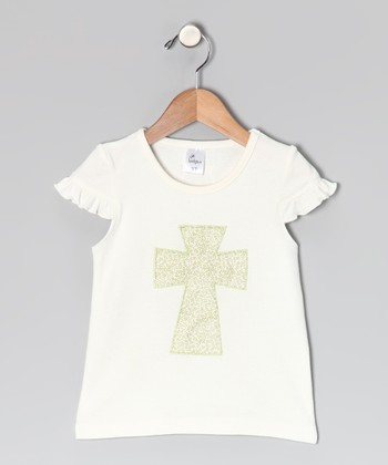 Cream Cross Tee - Toddler & Girls