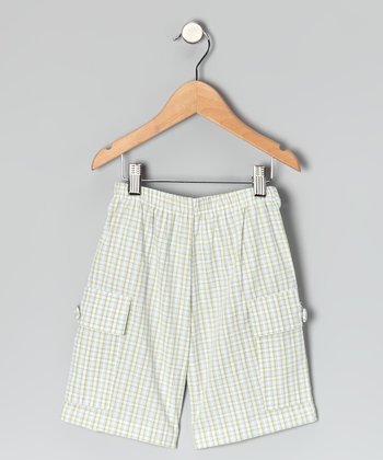 Green Plaid Cargo Shorts - Infant, Toddler & Boys