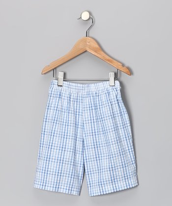 Blue Plaid Shorts - Infant & Toddler