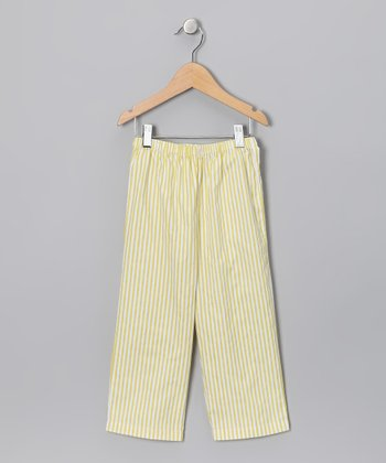 Yellow & White Stripe Pants - Infant, Toddler & Boys