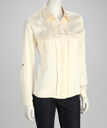 Ivory Button-Up