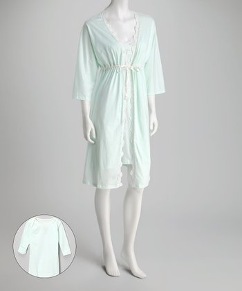 Mint Ariel Gown & Maternity Pajama Set - Infant & Women