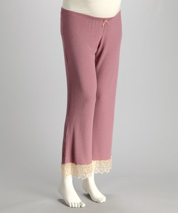 Plum Filigree Maternity Lounge Pants