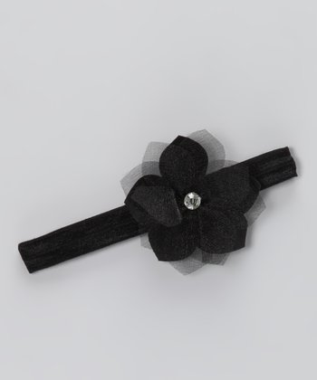 Black Flower Headband - Infant