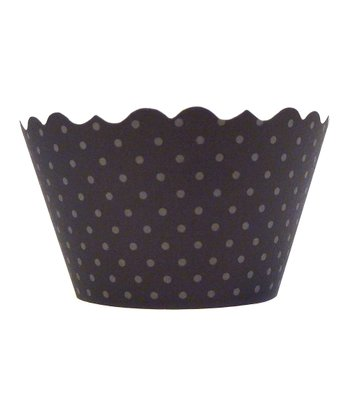 Black Polka Dot Cupcake Wrapper - Set of 24