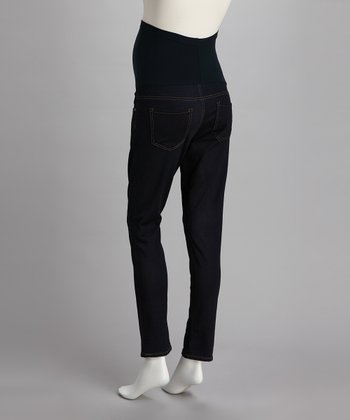 Blue Over-Belly Maternity Skinny Jeans