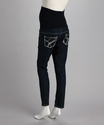 Blue Star Over-Belly Maternity Skinny Jeans