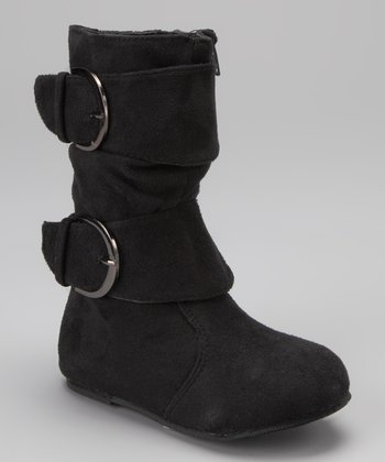 Black Franca Buckle Boot