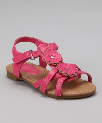 Fuchsia Katy Double Flower Sandal