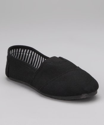 Black Canvas Slip-On Sneaker