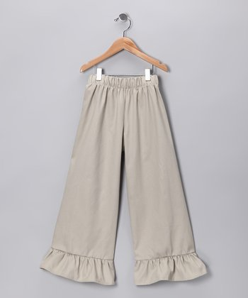 Khaki Ruffle Pants - Infant