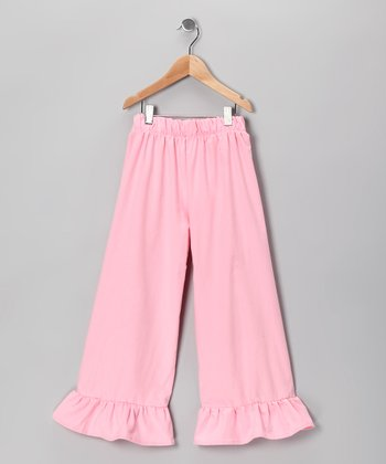 Light Pink Corduroy Ruffle Pants - Infant