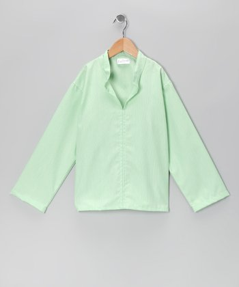 Green Pinstripe Peter Top - Toddler & Boys