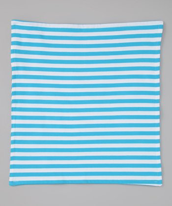 Turquoise & White Security Blanket