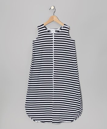Navy & White Stripe Sleeping Sack - Infant