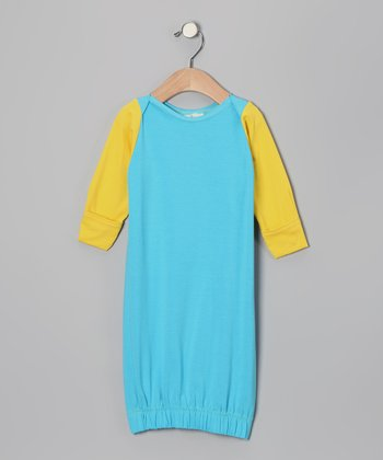 Turquoise & Yellow Gown - Infant