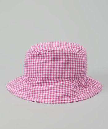 Fuchsia Gingham Bucket Hat