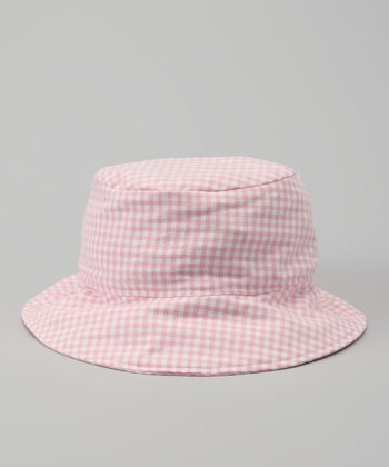 Pink Gingham Bucket Hat