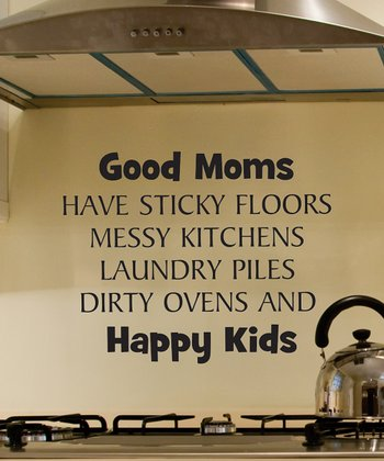 Black 'Good Moms' Wall Decal