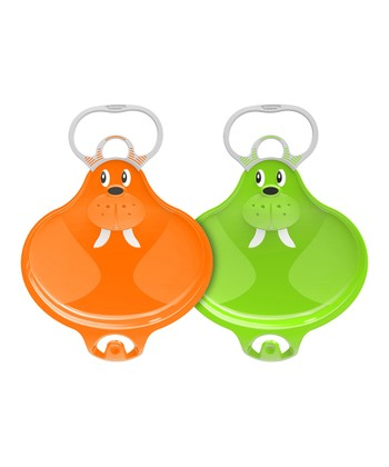 Orange & Green Small Walrooz Connectable Sled Set