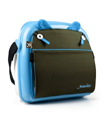 Baby Blue & Brown YummiGo Booster Seat