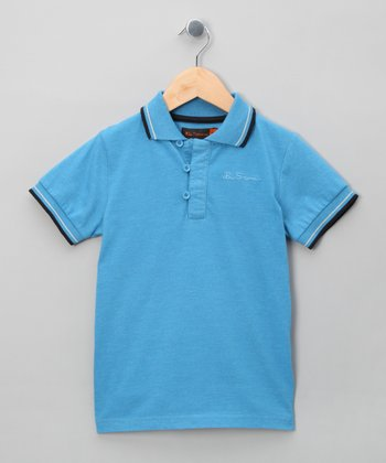 Ice Blue Marle Polo - Toddler & Boys
