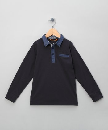 Classic Navy & Chambray Polo - Toddler & Boys