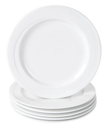 White 11'' Elan Dinner Plate - Set of Six
