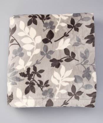 Khaki Foliage Sablesoft Luxury Throw