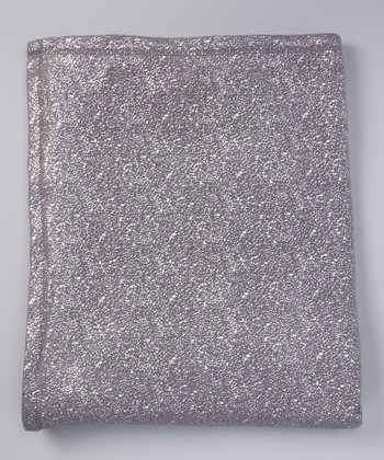 Smoke Shimmer Speckled Plush Throw