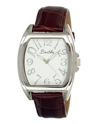 Brown & White Opal Watch
