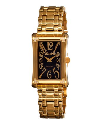 Gold & Black Vera Watch