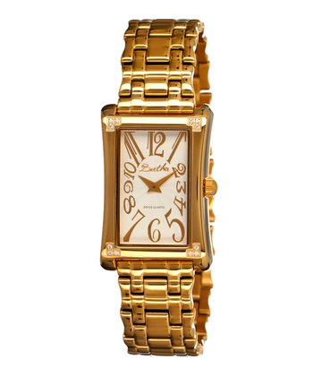 Gold & White Vera Watch