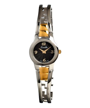 Gold & Black Elsie Watch