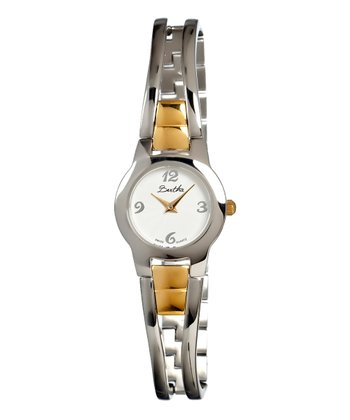 Gold & White Silver-Face Elsie Watch