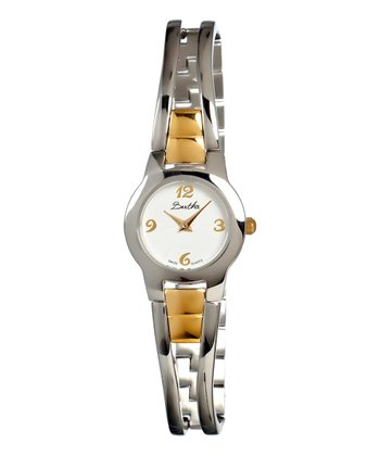 Gold & White Gold-Face Elsie Watch