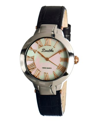 Black & Rose Gold Cecilia Watch