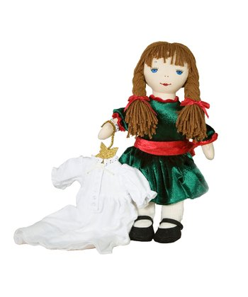 Kathy Christmas Rag Doll & Nightgown Set