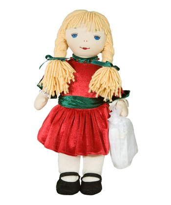 Janet Christmas Rag Doll & Nightgown Set