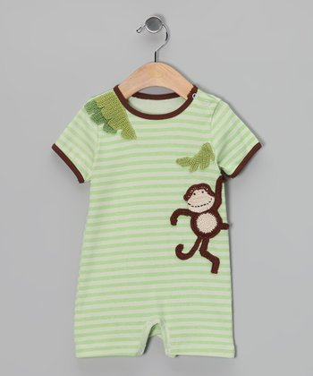 Green Stripe Wild Thing Romper