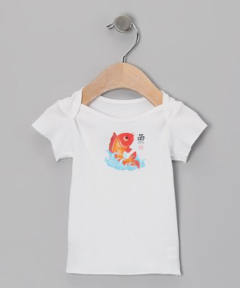 White Koi Fish Tee