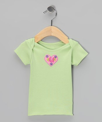 Cucumber Hibiscus Heart Tee - Infant