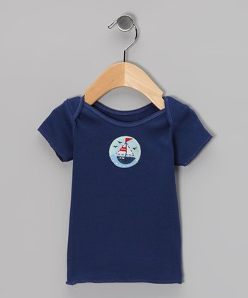 Navy Sailboat Tee - Infant