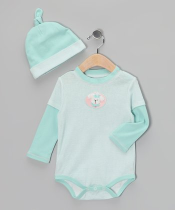 Tiffany & White Shih Tzu Layered Bodysuit & Single-Knot Beanie