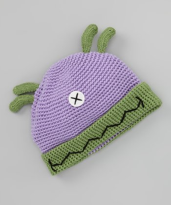 Purple Cyclops Crochet Beanie