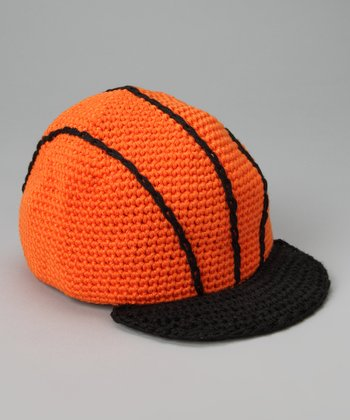 Orange Basketball Crochet Baseball Cap