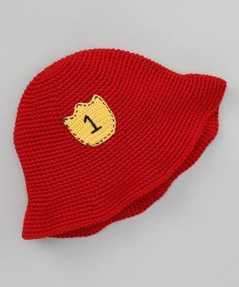 Red Fireman Crochet Bucket Hat