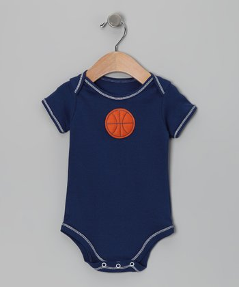 Navy Basketball Bodysuit