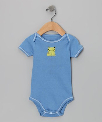 Blue Jean Frog Bodysuit - Infant